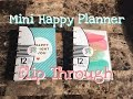 VIEWER REQUESTED: Mini Happy Planner Flip Through 2016