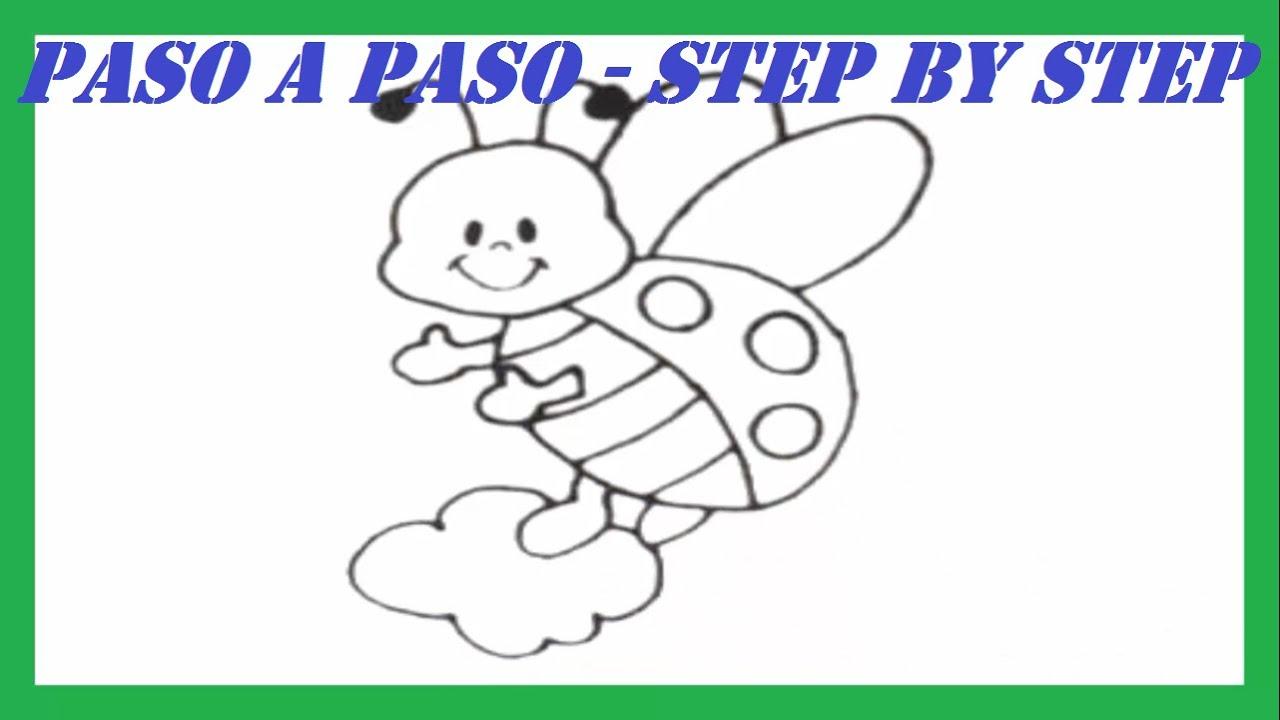 Como Dibujar Una Mariquita Paso A Paso L How To Draw A Ladybug Step By Step