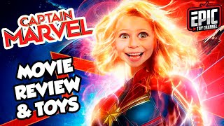 Captain Marvel Pretend Play and Movie Review + Huge Captain Marvel Surprise for Kids