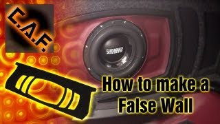 How To Make A False Wall Subwoofer Box -  Hide Speaker Enclosure Video - Caraudiofabrication