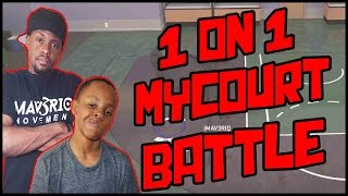 1 ON 1 MYCOURT BATTLE!! - NBA 2K16 MyCourt Gameplay ft. Trent