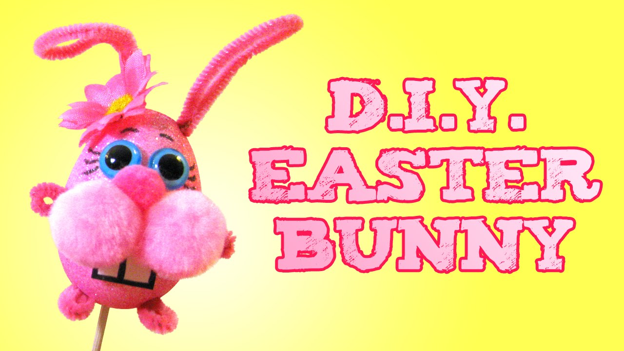 easter crafts for kids diy easter bunny decoration puppet toy