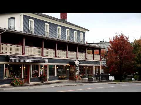 Le village historique de Knowlton - Lac-Brome, Québec, Canada