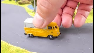 Awesome Micro scale RC VW T1 Van gets unboxed and played!