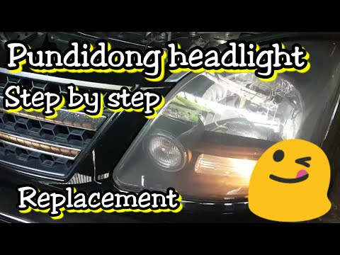 How to: Replace Headlight step by step Mitsubishi adventure