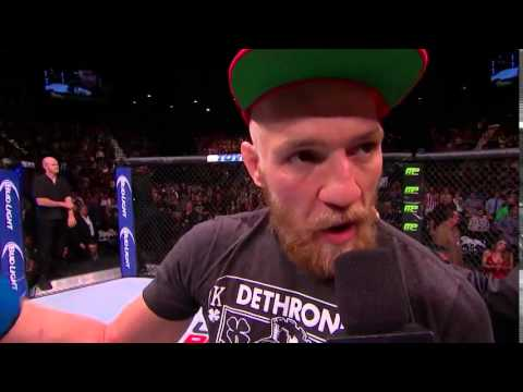 UFC 178: Conor McGregor Octagon Interview