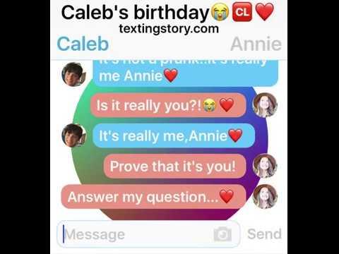 Annie Leblanc texts Caleb on his birthday😭🆑❤️