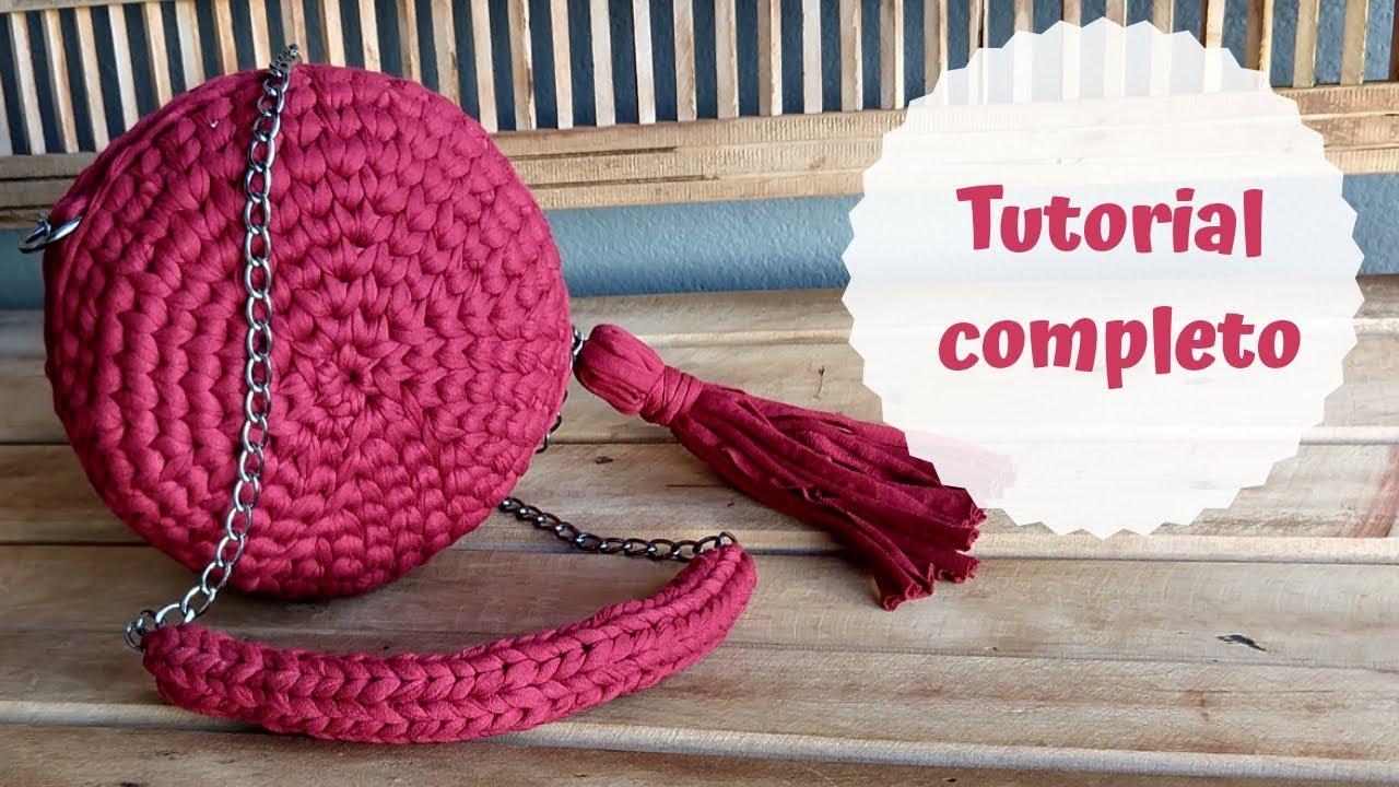 e3765863f Tutorial: Bolsa Redonda de Crochê com Fio de Malha - YouTube