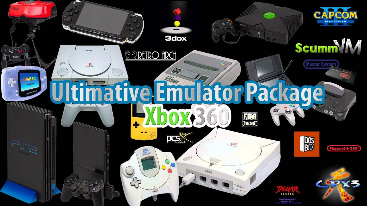 Ultimative Gaming Console Emulator Pack for Xbox 360 RGH - Homebrew