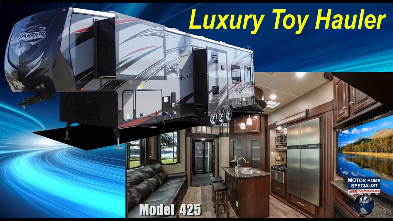Trat Er Toy : Road warrior luxury toy hauler th wheel rv review model