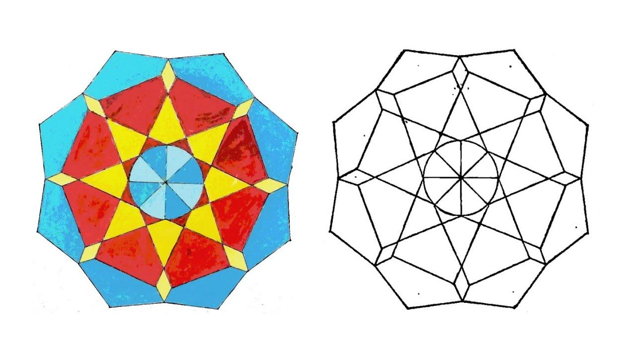 حرف ابداعية ١ رسم وحدة زخرفية لا نهائية زخارف اسلامية هندسية سهلة Islamic Geometric Youtube