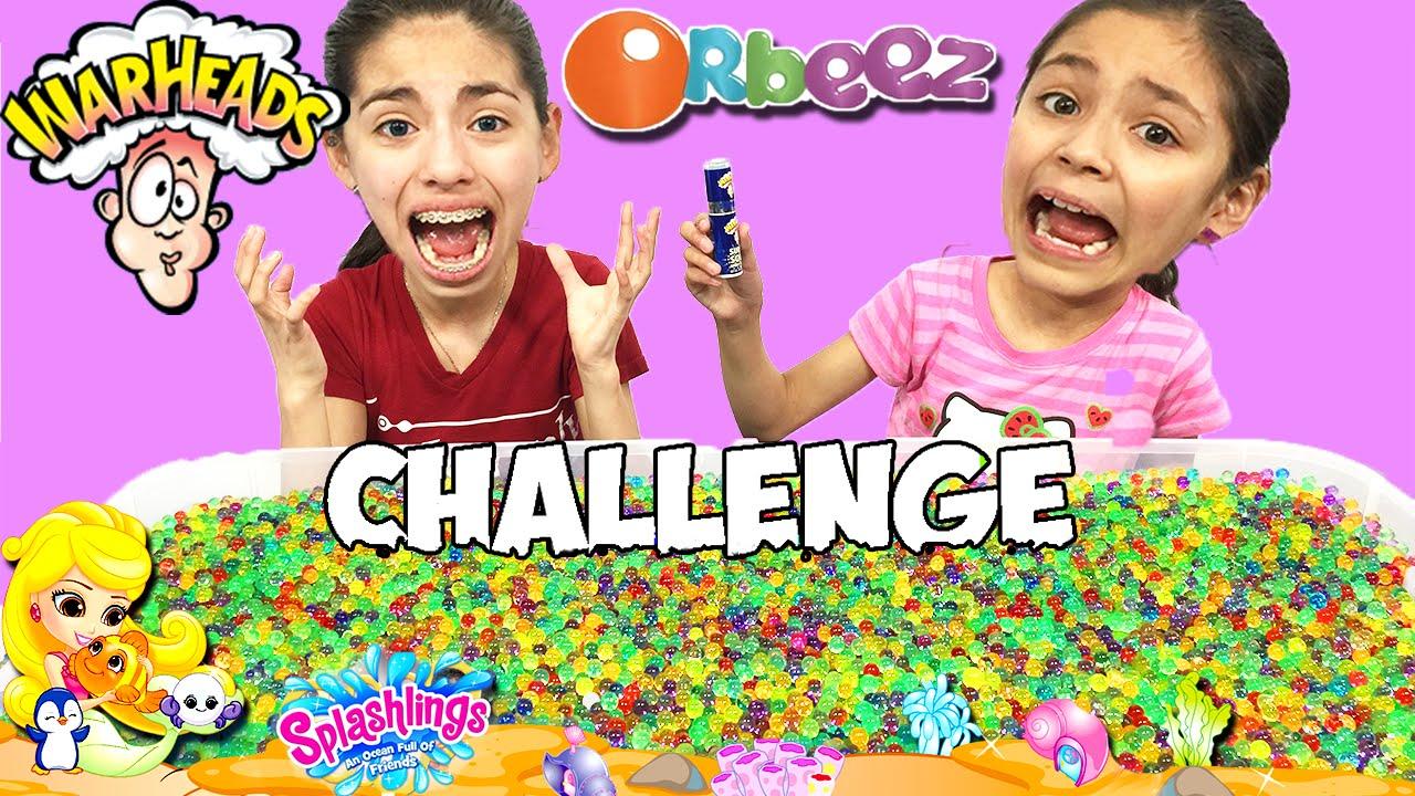 Orbeez Challenge Warheads Challenge Mermaid Splashings