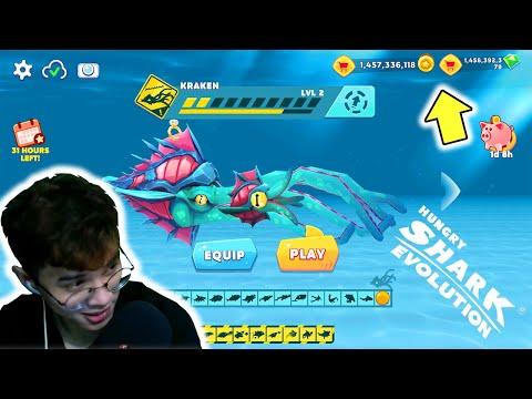 hack game hungry shark evolution android - Hungry Shark Evolution - Mua Hết Tất Cả Cá Mập Để Unlock Quái Vật KRAKEN ( Siêu Bạch Tuộc )