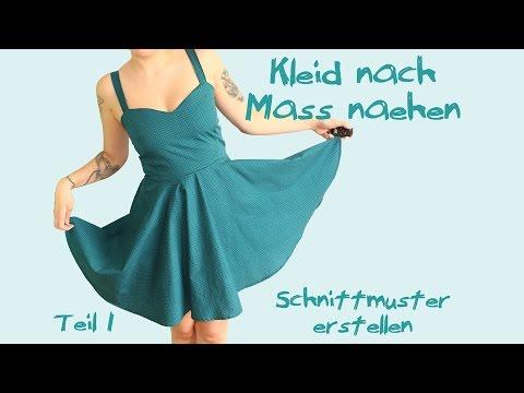 Kleid nach Maß nähen – Teil 1: Schnittmuster – Tutorial / Nähanleitung- Petticoat maßgeschneidert