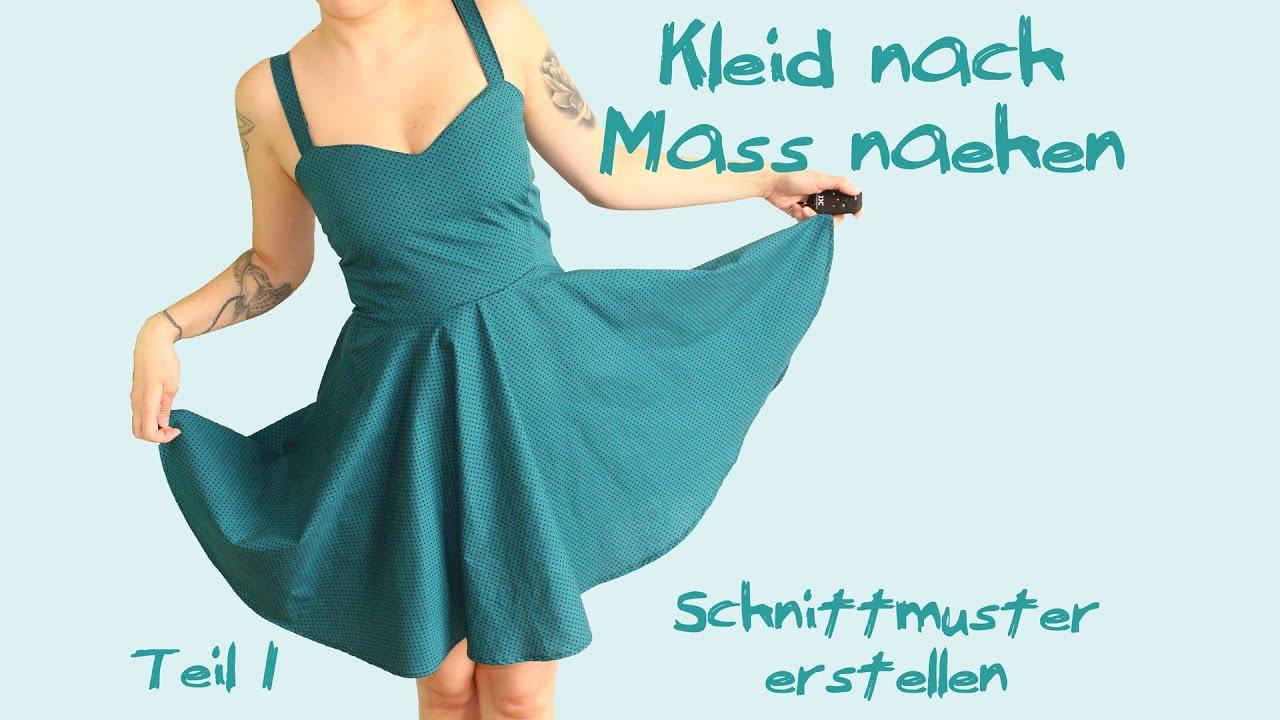 Kleid nach Maß nähen - Teil 1: Schnittmuster - Tutorial ...