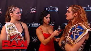 Becky Lynch confronts Ronda Rousey after WWE Evolution: Raw, Oct. 29, 2018