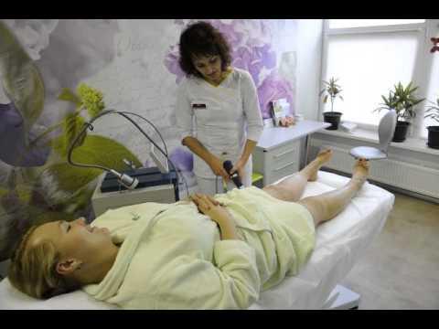 Надежда Ангарская на процедуре в клинике Telos Beauty на Донской