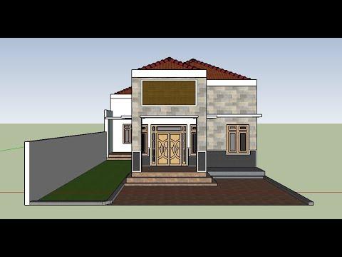 desain rumah mewah klasik 1 lantai sederhana yang terlihat