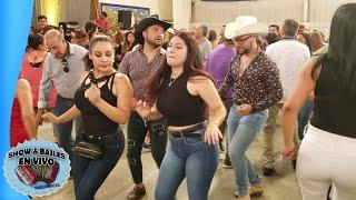 Bailando Los Corraleros del Sur con Las Hermanitas de la Loma Estefany y Karen - Reventon Ranchero