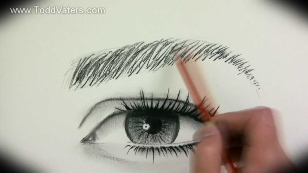 art tutorial how to draw a realistic female eye by todd vaters