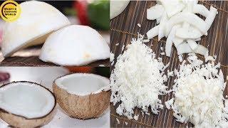 নারিকেল কোড়ানোর এবং ভাংগার সহজ পদ্ধতি ॥ Easy Remove Coconut From Shell And Grate Coconut