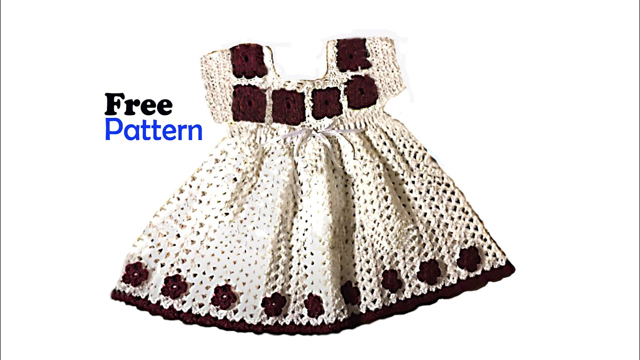 Crochet Baby Dress Free Pattern Youtube