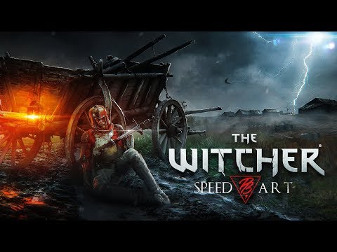 🐺 The Witcher 3 | SPEED-ART (timelapse) Photoshop by Pavel Bond