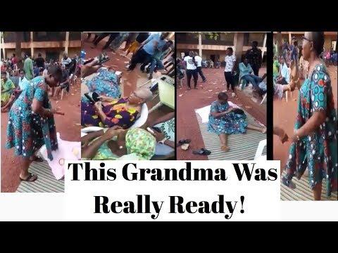 Watch What This Grandma Did At Enugu Polling Unit