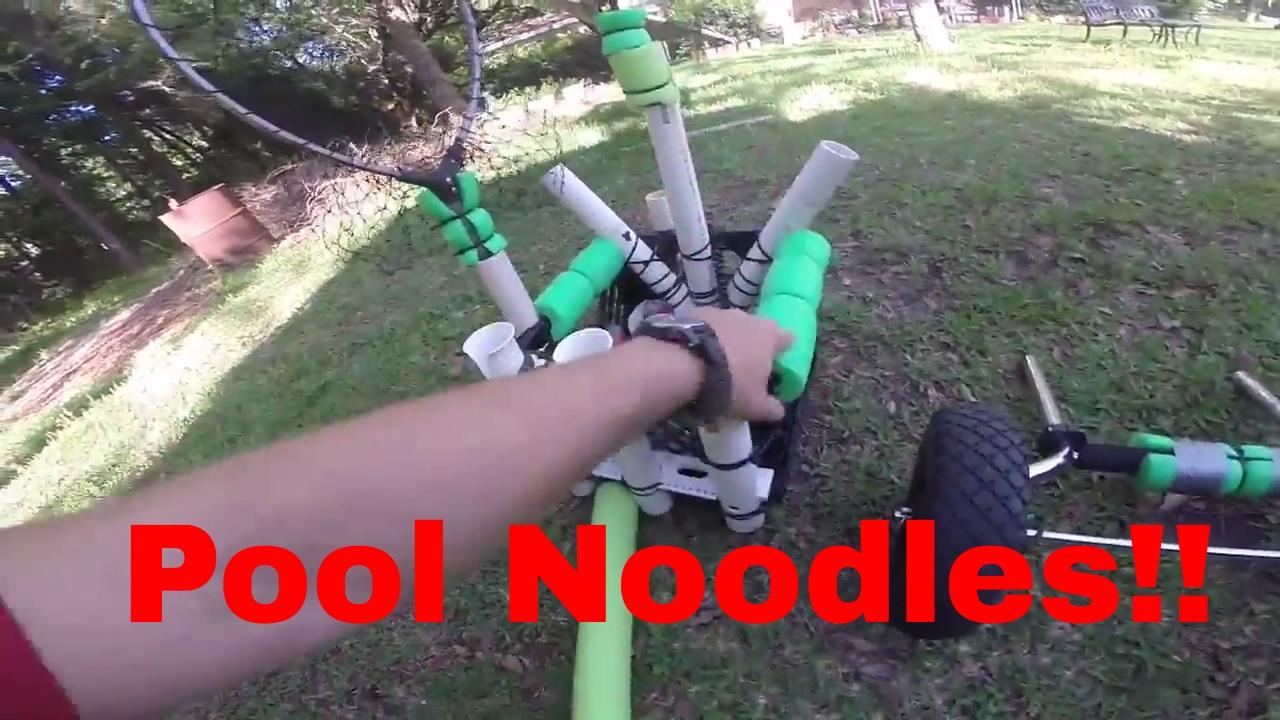 Kayak fishing diy kayak rod floats pool noodles 26 for How to make fishing noodles