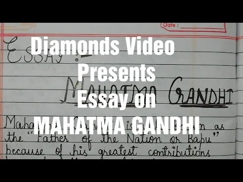 Видео Essay mahatma gandhi english