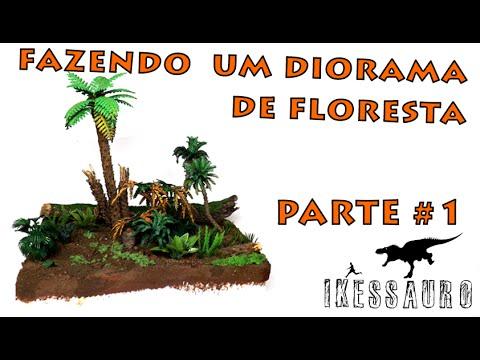 Fazendo um Diorama De Floresta - Parte 1/?