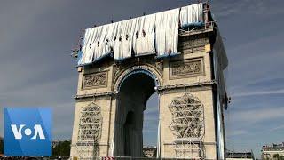 France's Arc de Triomphe Draped in Fabric