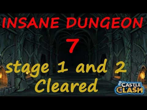 Castle Clash NEW Insane Dungeon 7 Stage 1,2 Cleared!