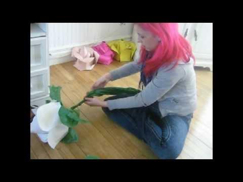 Comment Fabriquer Une Rose Geante Le Tutorial Partie 2 Youtube