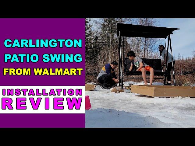 carlington patio swing by mainstays