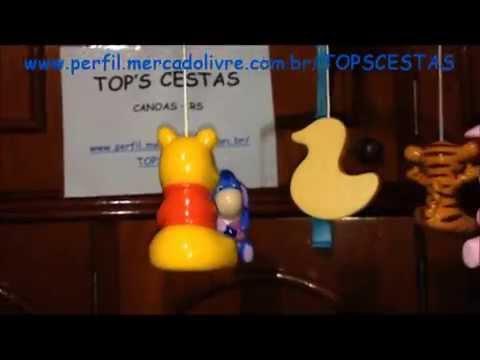 Móbile Giratório Musical Para Berço Ursinho Pooh Baby - Top's Virtual