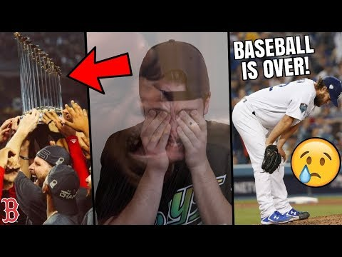 BASEBALL IS OVER 😭RED SOX WIN THE WORLD SERIES! FINAL MLB RECAP OF 2018