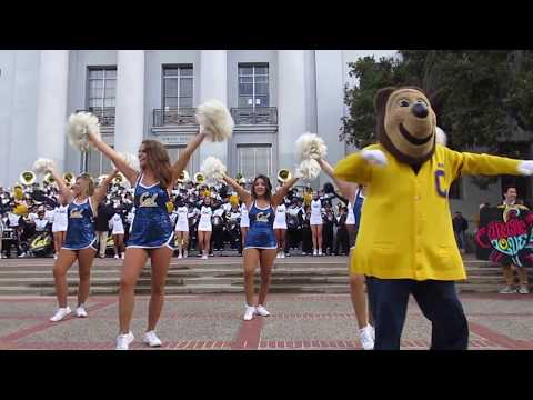 Cal Band Sproul Hall Rally vs. Oregon State 2017 Berkeley California (Electric Love Show)