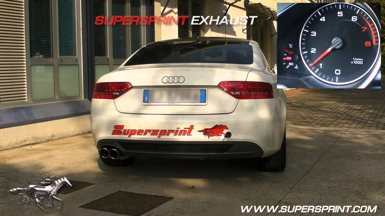 audi a5 2 0 tfsi supersprint komplettanlage sportauspuff. Black Bedroom Furniture Sets. Home Design Ideas