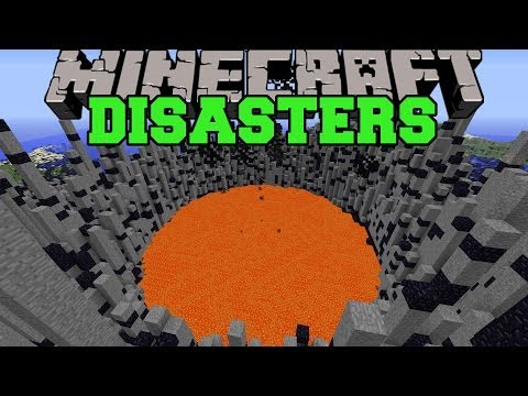 Minecraft: DISASTERS (VOLCANOES, EARTHQUAKES, METEORS, & SINKHOLES) Mod Showcase