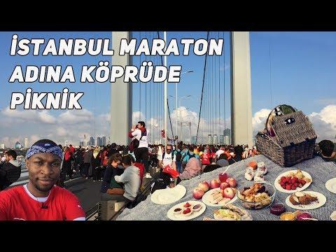 İstanbul Maraton Adına Köprüde Piknik - ALTYAZILI
