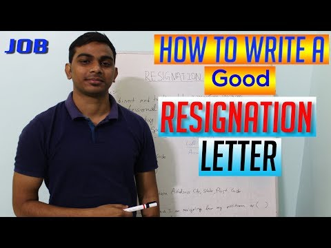How To Write A Good RESIGNATION LETTER From Job