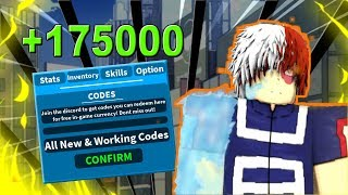 (+175000) All New/Working Codes + New One Piece Game ! | Boku No Roblox: Remastered | Roblox MHA Game