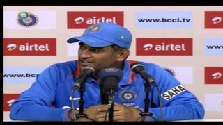 India vs Pakistan 2012-13: MS Dhoni speaks to the media after first ODI at Ahmedabad