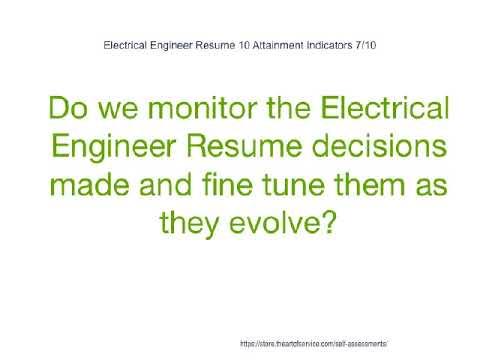 Electrical Engineer Resume 10 Attainment Indicators