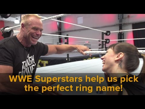 WWE superstars help us pick the perfect ring name