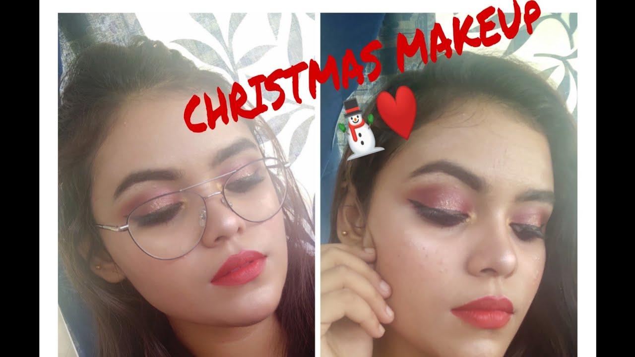 Christmas Makeup Tutorial  Festive Smokey Eye Indian ...