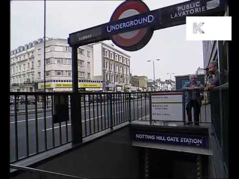 1990s Notting Hill Gate Tube Station London