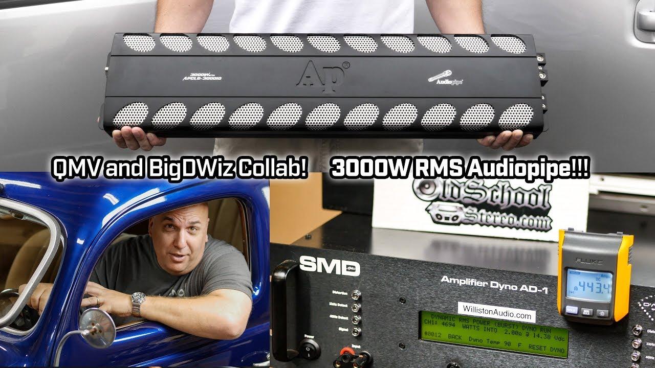 Audiopipe APCLE-30001D - BigDWiz Amp Dyno Collaboration!!! 3,000W RMS @ 2  ohms