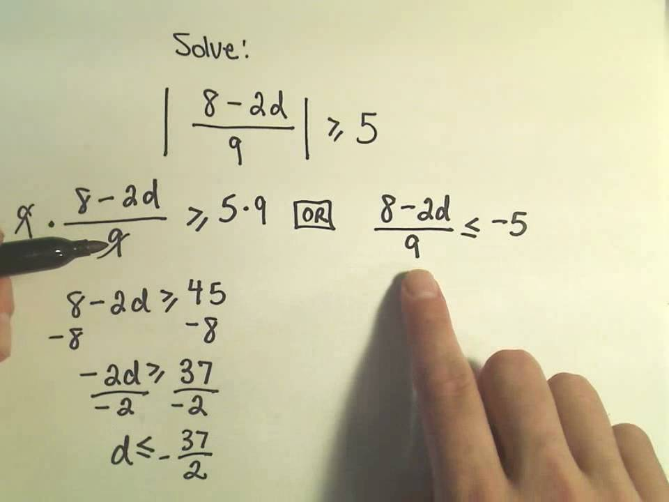 Solving Absolute Value Inequalities - Example 3